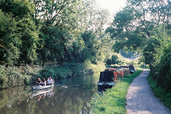 Canal boating and cycling